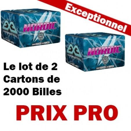 Le Lot de 2 Cartons 2000 billes paintball E.X.E Nordic Hiver