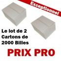 Le lot de 2 Cartons blancs de 2000 Billes